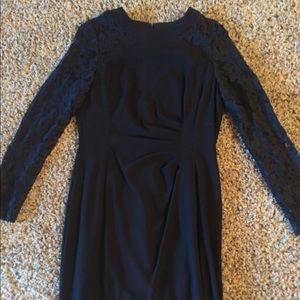 Black Tahari lace cocktail dress new w/o tags